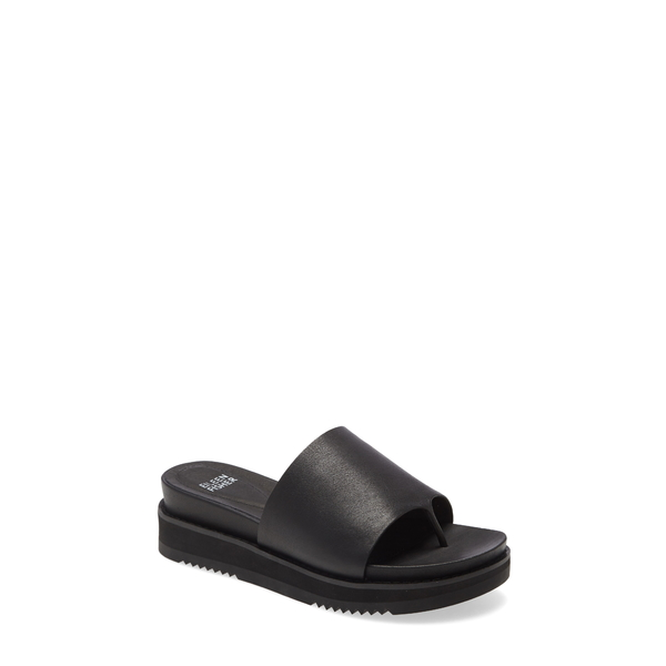 エイリーンフィッシャー レディース サンダル シューズ Touch Platform Sandal Black Leather