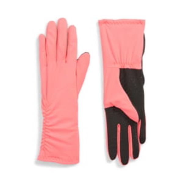 ユーアール レディース 手袋 アクセサリー Side Ruched Stretch Touchscreen Compatible Gloves Popstar Pink