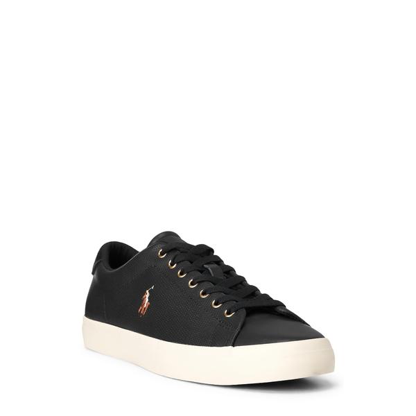 ラルフローレン メンズ スニーカー シューズ Longwood Sneaker Black Leather