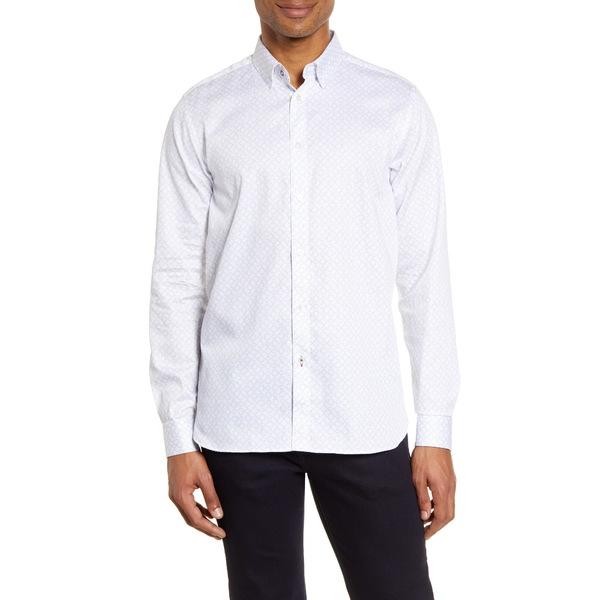 テッドベーカー メンズ シャツ トップス Whonos Slim Fit Button-Up Shirt White