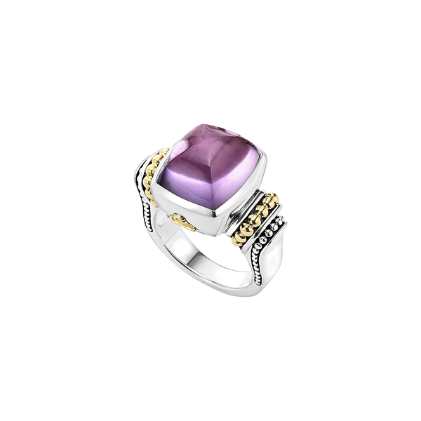 ラゴス レディース リング アクセサリー 'Caviar Color' Medium Semiprecious Stone Ring Amethyst