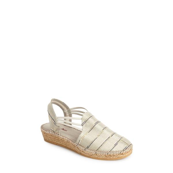 トニーポンズ レディース サンダル シューズ 'Nantes' Silk Stripe Sandal Stripe Natural