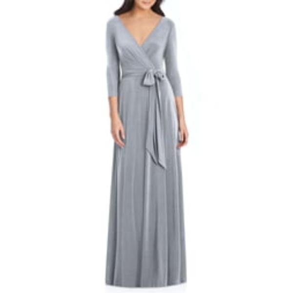 ドレッシーコレクション レディース ワンピース トップス Jersey Tie Waist Gown Platinum