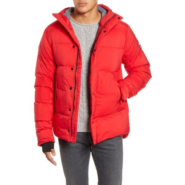 カナダグース メンズ ジャケット&ブルゾン アウター Armstrong 750 Fill Power Down Jacket Red 就職祝 節分 バレンタインデー 誕生日 謝礼 お祝い