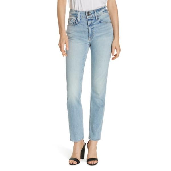 フレーム レディース デニムパンツ ボトムス Le Sylvie Slender Straight Leg Jeans Bianca