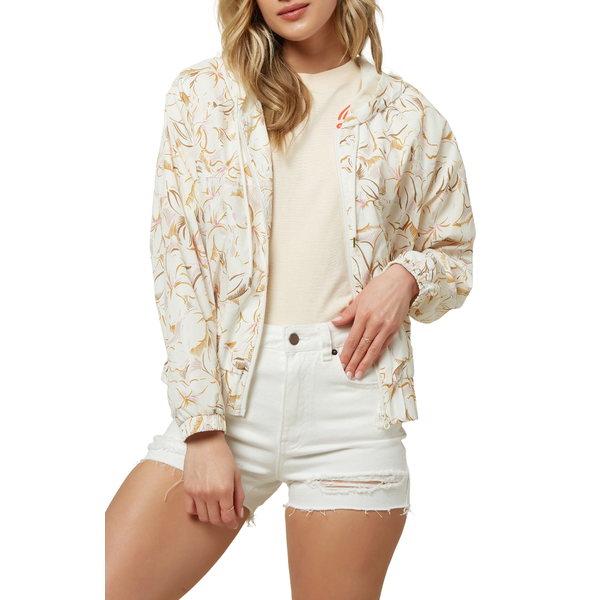 オニール レディース ジャケット&ブルゾン アウター Lunan Water Resistant Hooded Jacket Winter White