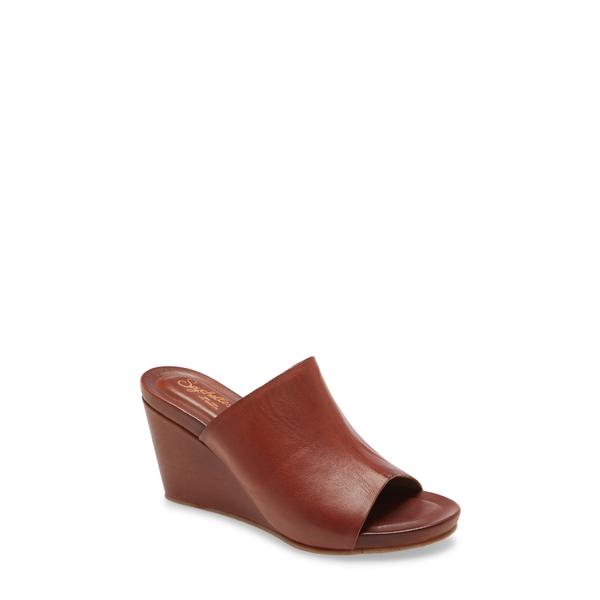 セイシェルズ レディース サンダル シューズ Perky Wedge Slide Sandal Tan Leather