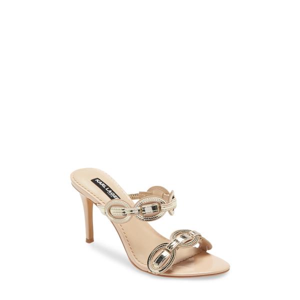 カールラガーフェルド レディース サンダル シューズ Dalya Slide Sandal Nude/ Gold Leather