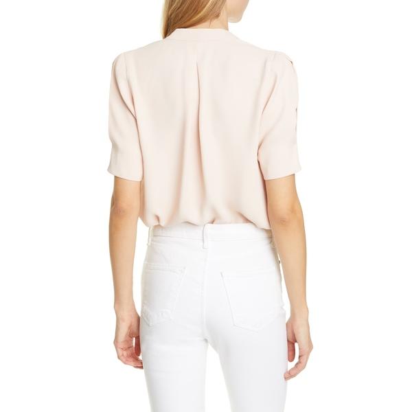 ジョア レディース Tシャツ トップス Ance V-Neck Silk Blouse Pink Sky