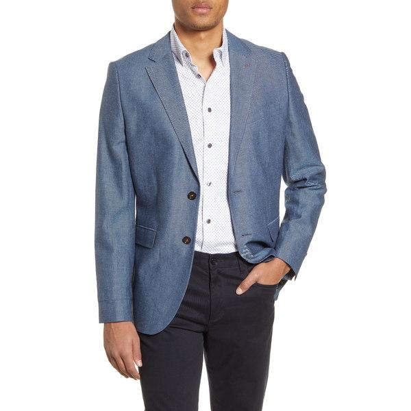 テッドベーカー メンズ ジャケット&ブルゾン アウター Hoop Sport Coat Blue