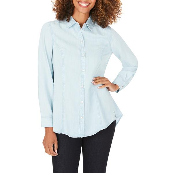 フォックスクラフト レディース シャツ トップス Juliet Chambray Button-Up Shirt Bluewash