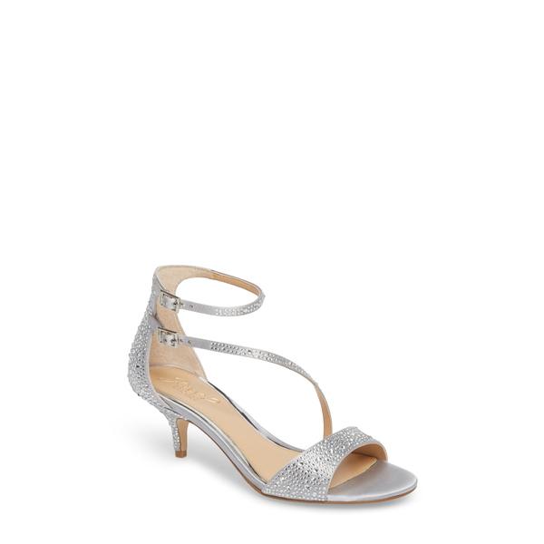ジュウェルダグレイミシュカ レディース サンダル シューズ Tangerine Crystal Embellished Sandal Silver Satin