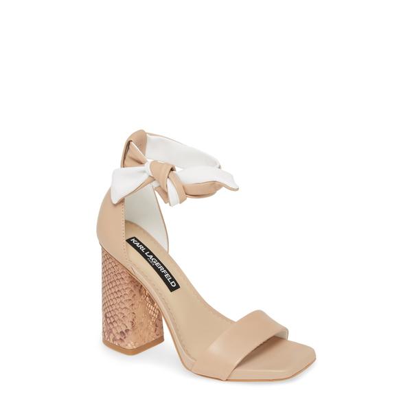 カールラガーフェルド レディース サンダル シューズ Mabli Ankle Strap Sandal Nude Leather