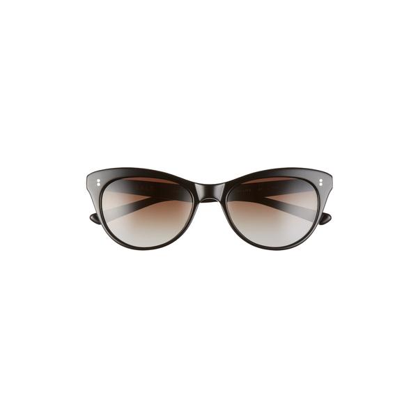 ソルト レディース サングラス&アイウェア アクセサリー Hillier 55mm Polarized Cat Eye Sunglasses Black