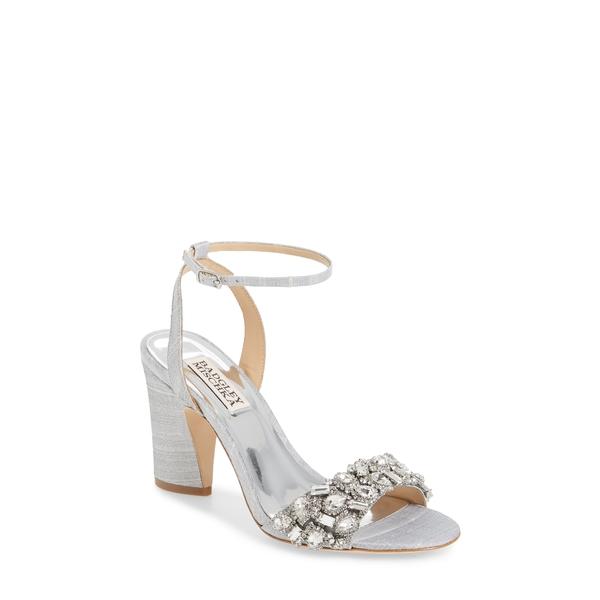 バッドグレイミッシカ レディース サンダル シューズ Badgley Mischka Jill Ankle Strap Sandal Silver Fabric