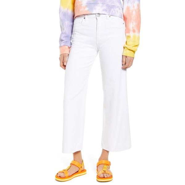 STSブルー レディース デニムパンツ ボトムス High Waist Crop Wide Leg Jeans White