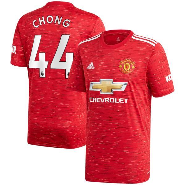 アディダス メンズ ユニフォーム トップス Tahith Chong Manchester United adidas 2020/21 Home Replica Player Jersey Red