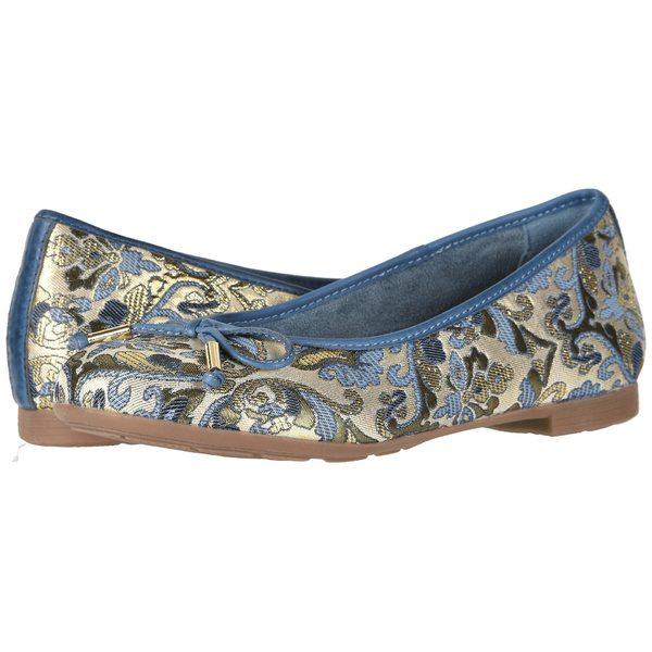 アース レディース サンダル シューズ Alina Blue Multi/Floral Metallic Leather