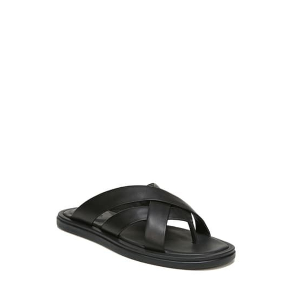 Dunbar ヴィンス メンズ BLACK シューズ サンダル Leather Sandal Flip-Flop