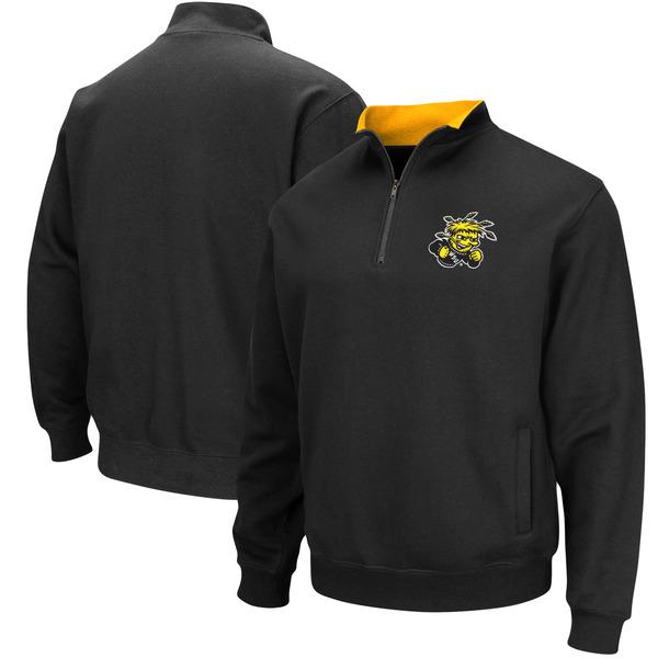 コロシアム メンズ ジャケット&ブルゾン アウター Wichita State Shockers Colosseum Tortugas Logo QuarterZip Jacket Black