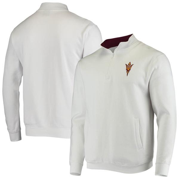 コロシアム メンズ ジャケット&ブルゾン アウター Arizona State Sun Devils Colosseum Tortugas Logo QuarterZip Jacket Heathered Gray