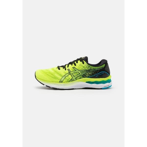 アシックス メンズ スポーツ ランニング 売り出し hazard 最新 green black 全商品無料サイズ交換 23 Neutral shoes xyeq0056 GEL-NIMBUS running -