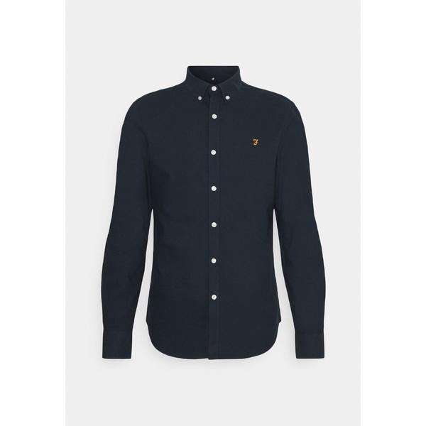 ファーラー メンズ 新品 トップス 販売 シャツ navy BREWER Shirt 全商品無料サイズ交換 xyeq0057 -