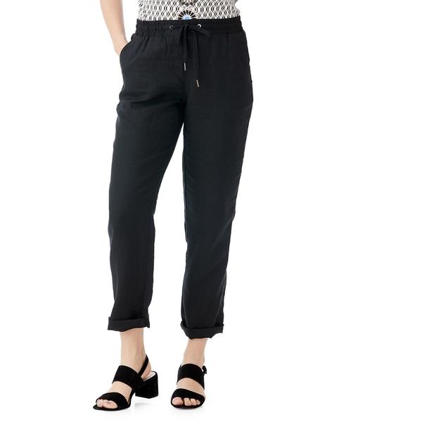 オルセン レディース カジュアルパンツ ボトムス Lisa Linen Drawstring Pants Black