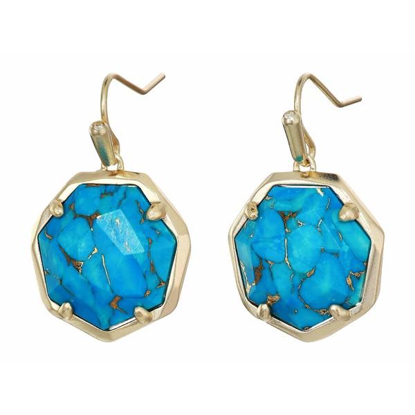 ケンドラスコット レディース ピアス&イヤリング アクセサリー Cynthia Drop Earrings Gold/Bronze/Veined Turquoise