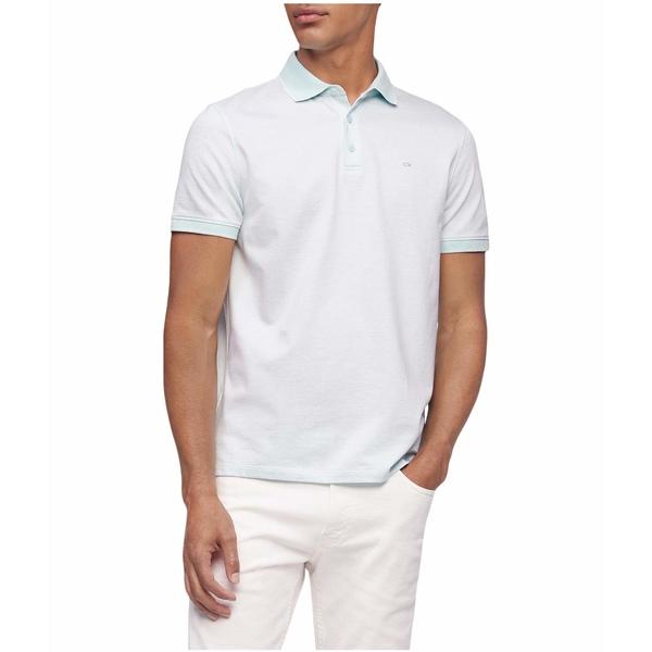 カルバンクライン メンズ シャツ トップス Short Sleeve Liquid Touch Polo Shirt Water Drop Combo