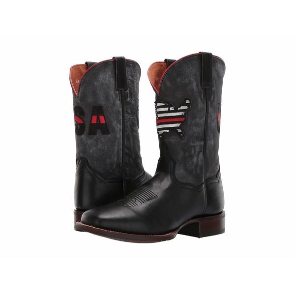 ダンポスト メンズ ブーツ&レインブーツ シューズ Thin Red Line Black/Grey Leather