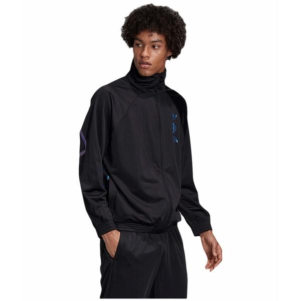アディダスオリジナルス メンズ コート アウター Xeno TT Jacket Black/Team Royal Blue