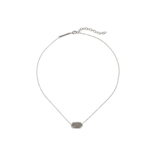 ケンドラスコット レディース ネックレス・チョーカー・ペンダントトップ アクセサリー Elisa Pendant Necklace Rhodium/Platinum Drusy