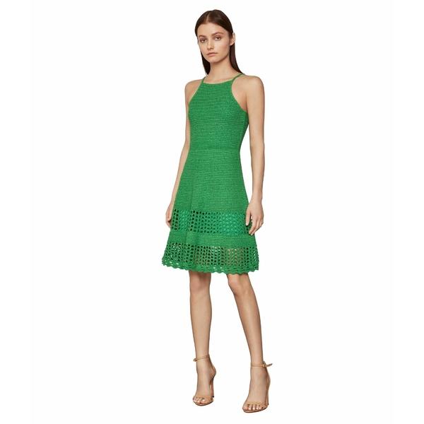 ビーシービージーマックスアズリア レディース ワンピース トップス Knit Fit-and-Flare Dress Vibrant Green