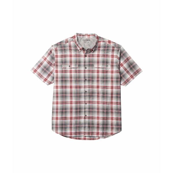 ウルヴァリン メンズ シャツ トップス Big & Tall Springport Short Sleeve Shirt Onyx Plaid