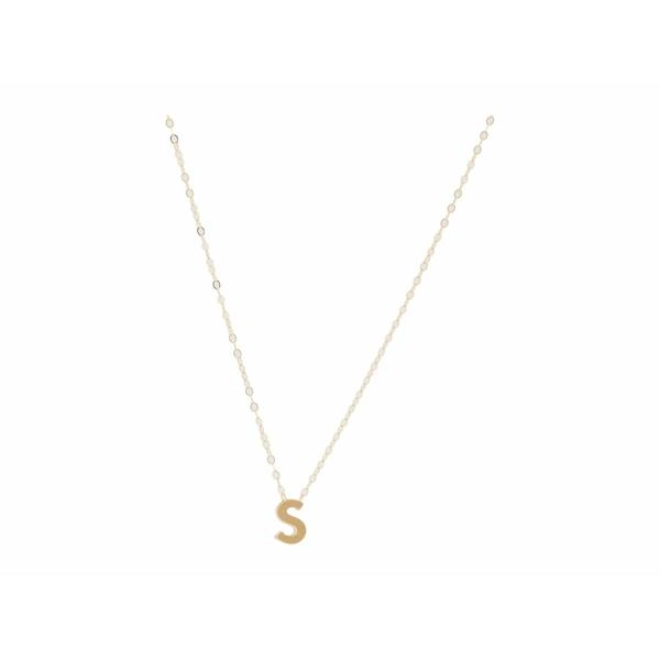 エイブル レディース ネックレス・チョーカー・ペンダントトップ アクセサリー Letter Charm Necklace: S Gold-Filled/Vermeil