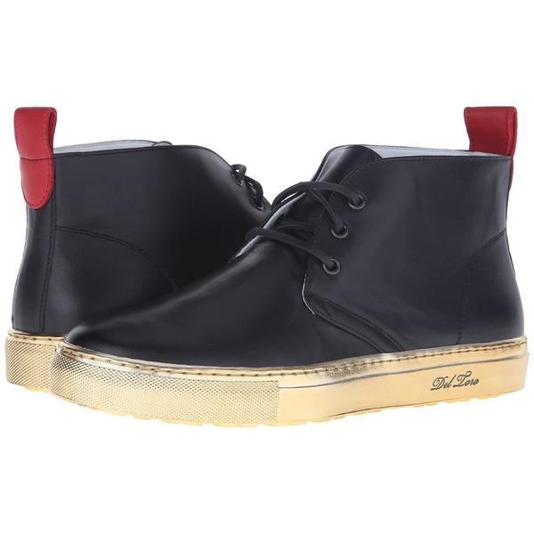 デルトロ メンズ スニーカー シューズ High Top Chukka Sneaker Black/Gold