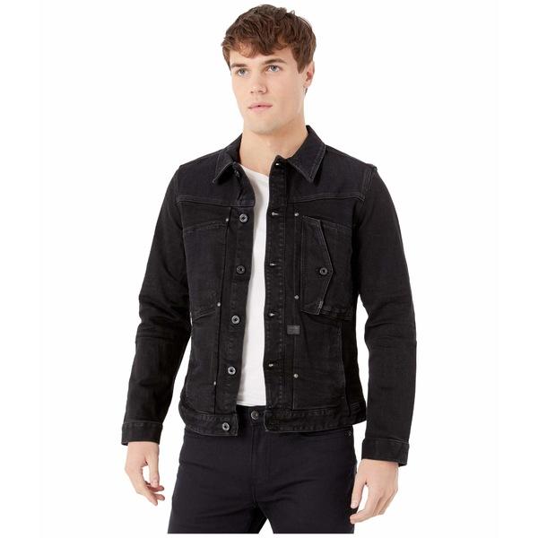 ジースター メンズ コート アウター Scutar Pop Slim Jacket in Jet Black Jet Black