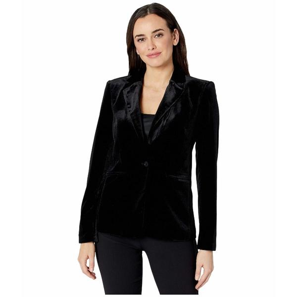 カルバンクライン レディース コート アウター One-Button Velvet Jacket Black