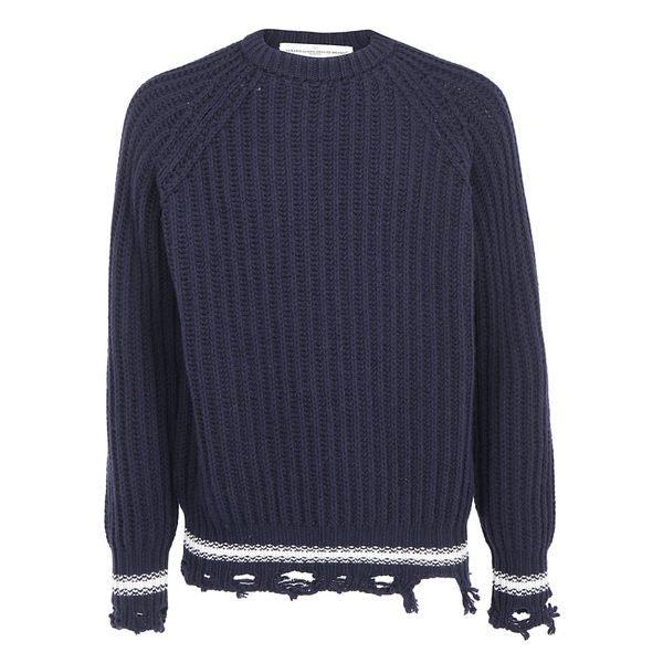 ゴールデングース メンズ ニット&セーター アウター Golden Goose Kunio Sweater Navywhitestripes