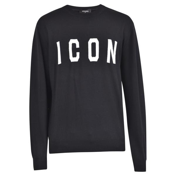ディースクエアード メンズ ニット&セーター アウター Dsquared2 Icon Sweater Black