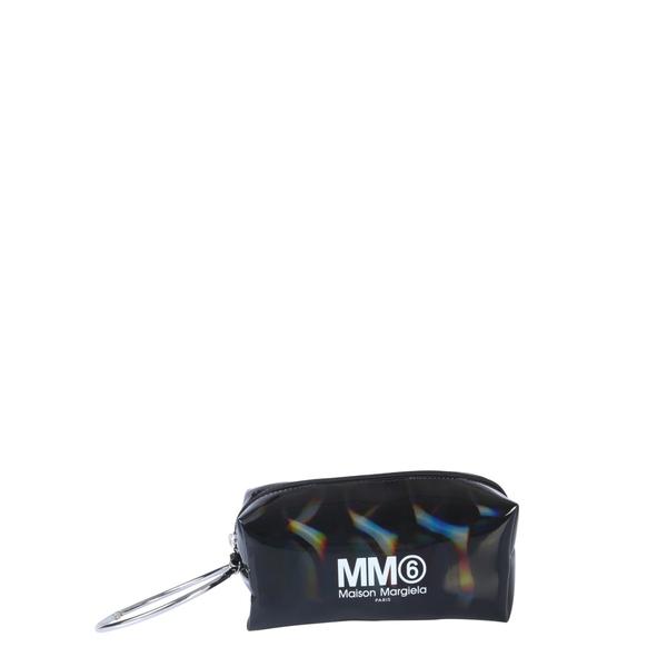 マルタンマルジェラ レディース クラッチバッグ バッグ MM6 Maison Margiela Clutch With Logo NERO