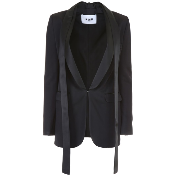エムエスジイエム レディース ジャケット&ブルゾン アウター MSGM Tuxedo Jacket BLACKBlack