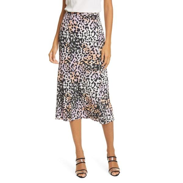 ヴェロニカ ベアード レディース スカート ボトムス Diane Animal Print Silk Skirt Lilac Multi