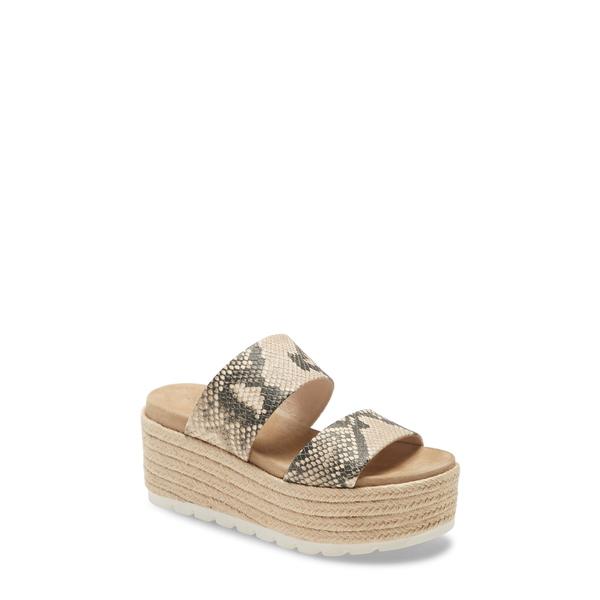 ジェースライズ レディース サンダル シューズ Quinzel Platform Slide Sandal Natural Multicolor Leather