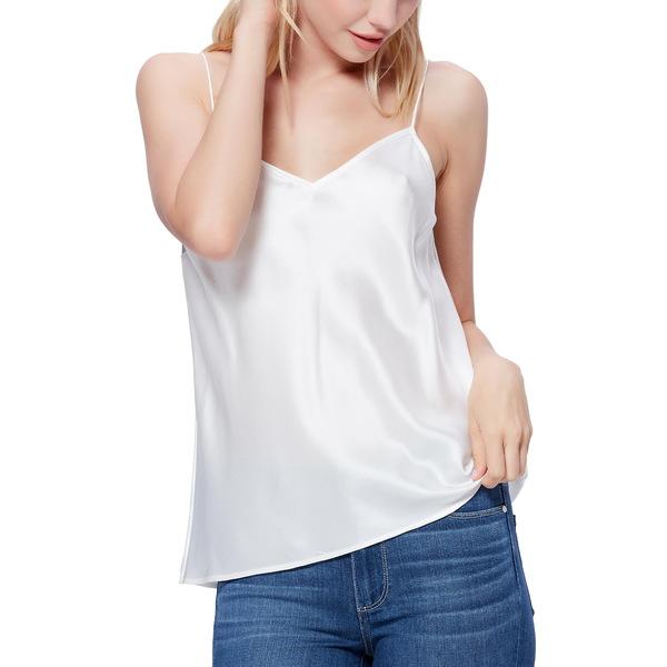 ペイジ レディース カットソー トップス Cicely Silk Camisole White