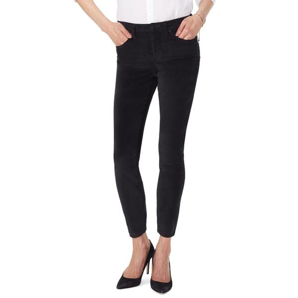 エヌワイディージェイ レディース カジュアルパンツ ボトムス Ami Stretch Velvet Skinny Pants Black