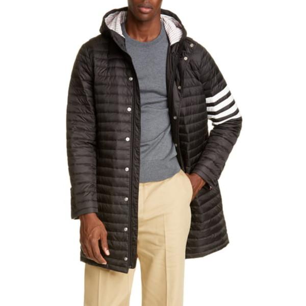 トムブラウン メンズ ジャケット&ブルゾン アウター 4-Bar Down Puffer Jacket Black