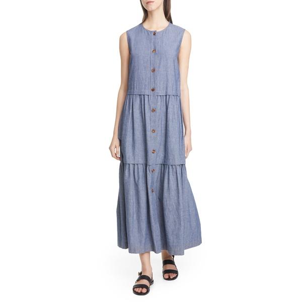 ラファイエットワンフォーエイト レディース ワンピース トップス Nadine Chambray Maxi Dress Blue Note Melange