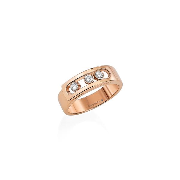 メッシカ レディース リング アクセサリー Move Noa Diamond Band Ring Rose Gold